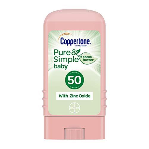 Coppertone Water BABIES Sunscreen Pure & Simple Stick Broad Spectrum SPF 50, .49 Ounces