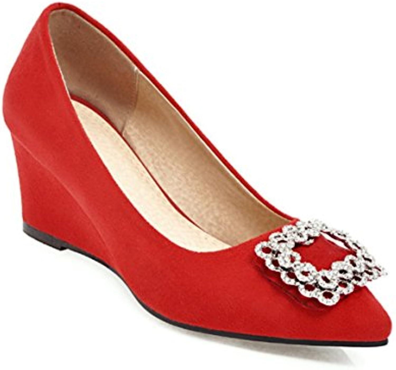 mogeek Zapatos Tacón Cuña Mediano Alto Tacones Elegantes Zapatos de Tacón Mujer