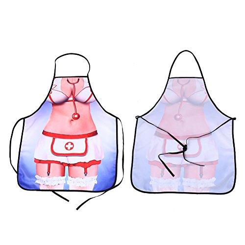 SSXY Neuheit Sexy Krankenschwester Schönheit Küche Kochschürze Fun Party Kostüm Kreatives Geschenk (Kreativ Krankenschwester Kostüm)