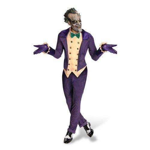 (4teiliges Joker Kostüm Für Herren Offiziell Batman Gegner Halloween)