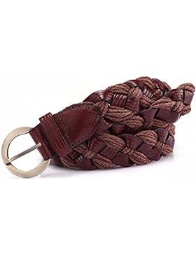 Cinturón trenzado de cuero correa decoracion moda casual JEANS