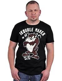 Logoshirt - Looney Tunes Taz Trouble Maker T-Shirt, black