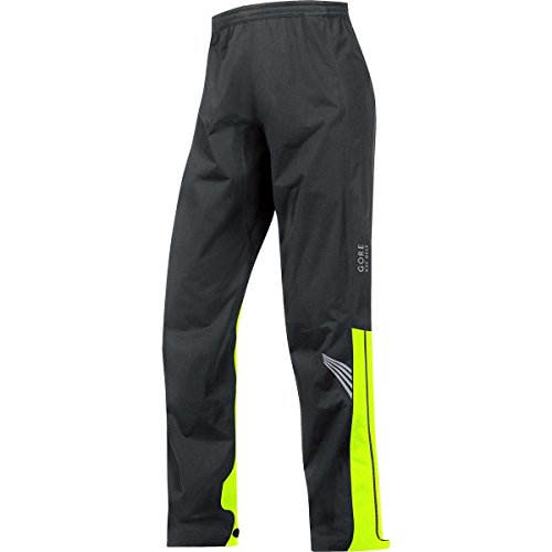 GORE BIKE WEAR Pantaloni Ciclismo Uomo ELEMENT GORE-TEX Active, Nero/ Giallo, Taglia XL, PGMELE990806