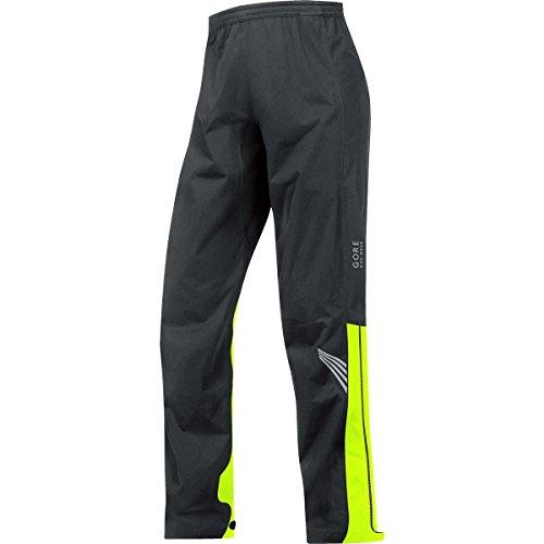 GORE BIKE WEAR Herren Lange Regen-Überzieh-Fahrradhose, GORE-TEX Active,  GT AS Pants, Größe: XXL, Schwarz/Gelb, PGMELE (Gore-tex-shell-hose)