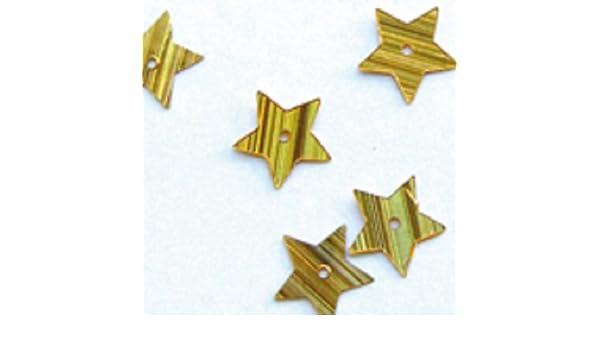 Paillettes étoile 10mm Hologram Or