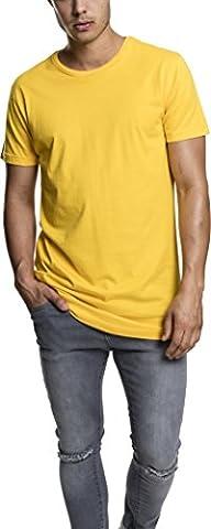 Urban Classics Shaped Long Tee, T-Shirt Homme, Jaune (Chrome Yellow 1148), Large