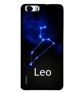 Fuson 2D Printed Sunsign Leo Designer back case cover for Huawei Honor 6 Plus - D4469