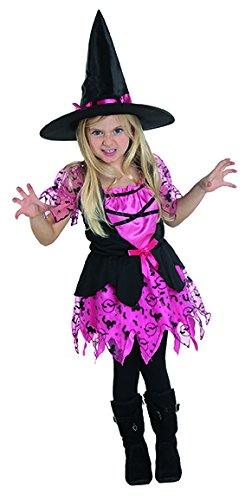 (Rubies 12944 - Hexe pink - Kinder Hexen Kostüm (116))