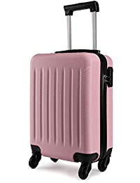 Kono 19 inch Carry On Luggage Lightweight ABS 4 Wheel Spinner Suitcase Hard Cabin Travel Case Hand Luggage for Easyjet British Airways Ryanair