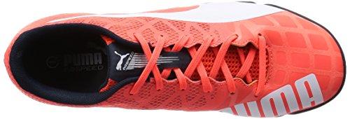 Puma  evoSPEED Sala 3.4, Chaussures de Futsal homme Orange (Lava Blast/White/Total Eclipse)