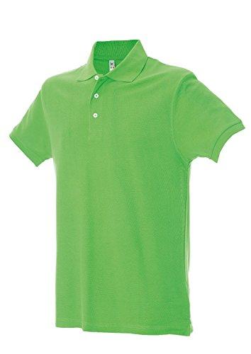 Polo Manica Corta Cotone Pettinato Ideali per la Stampa James Ross San Francisco Light Green
