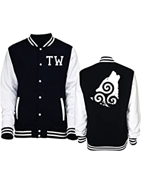 Giacca Varsity College taglia Unisex Lupo Teen Wolf - Serie Tv - iMage - XXL-NERA