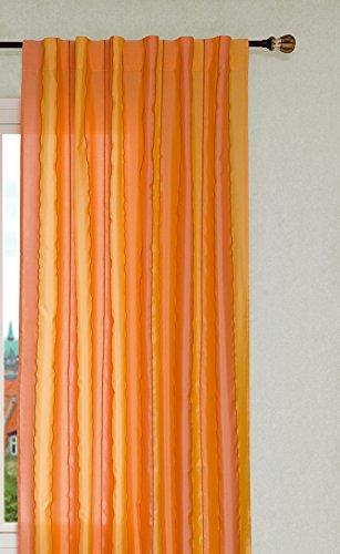Estores Basic Chenilla Cortina de Trabillas, Tela, Naranjas, 140X275 c