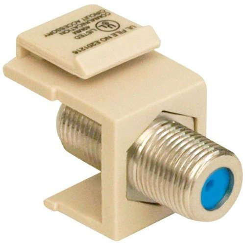 - T03 20–3202-la Keystone Jack mit 2,4 GHz f-Stecker (Light - Plate Almond Light Wall