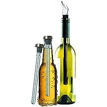 Original Regalo Enfriador de Vino y Cerveza Set de 2 - Accesorios Aireador y Vertedor,