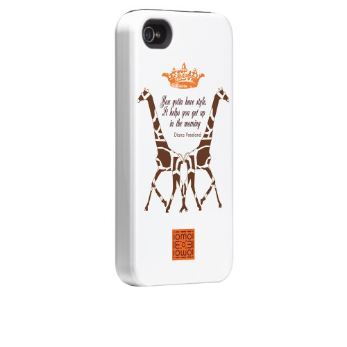 Case-mate iomoi Tough Designer Cases for Apple iPhone 4/4s - LV the Monkey 2 Giraffes