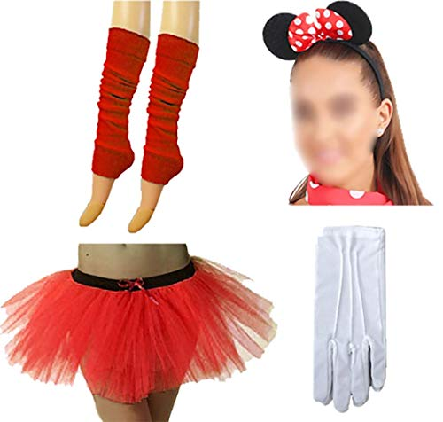 mens Mouse Kost�m Zubeh�r Tutu Rock Handschuhe Legwarmer Mouse Stirnband Set One Size ()