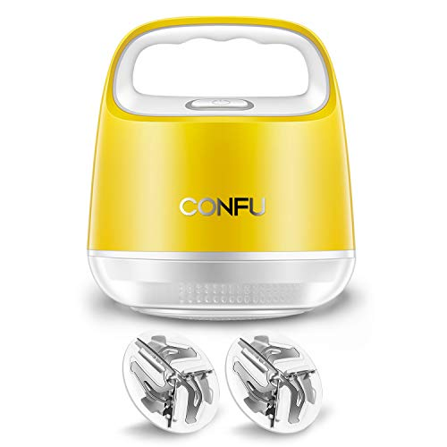 Fusselrasierer CONFU Elektrischer Fusselentferner Zitrone Flusenentferner Flusenrasierer für Kleidung Bettwäsche Sofakissen USB Wiederaufladbar 3 Ersatzschneidkopf