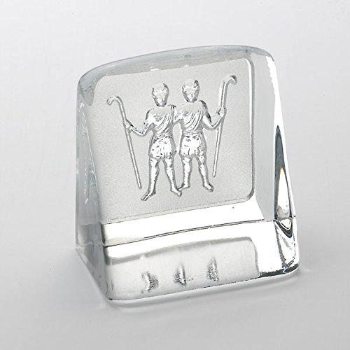 GEMEAUX-Briefbeschwerer-Gewächshaus Buch Kristall Herstellung Schweden, Sternzeichen-Zodiac Collection By The Christian Bounaix ©