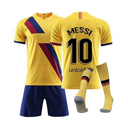 COOLBOY 10# Messi Kits de Jersey de Club de fútbol para Hombres, 2019/20 Jersey de fútbol para niños con Camiseta, Pantalones y Calcetines,XL