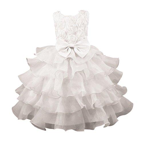 WanYang Kinder Bühnenkostüme Brautkleid Prinzessin Kleid Mädchen ...
