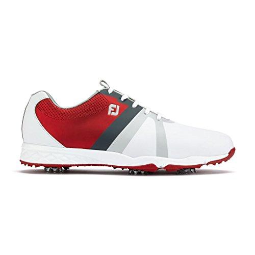 Footjoy Herren Energize Golfschuh - Wasserdicht (Red/White, 44)