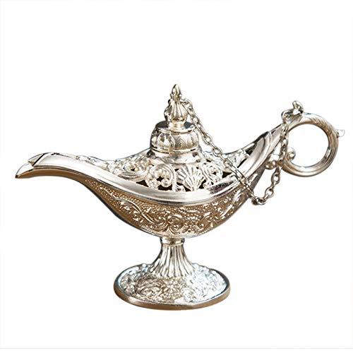 Besten Aladdin Kostüm - WEISY Vintage Aladdin Lampe Magic Vintage Home Tee Öltopf wünschen Lampe Topf arabische Kunst Handwerk Geschenk für zu Hause Tischdekoration Festliche Party Geschenk