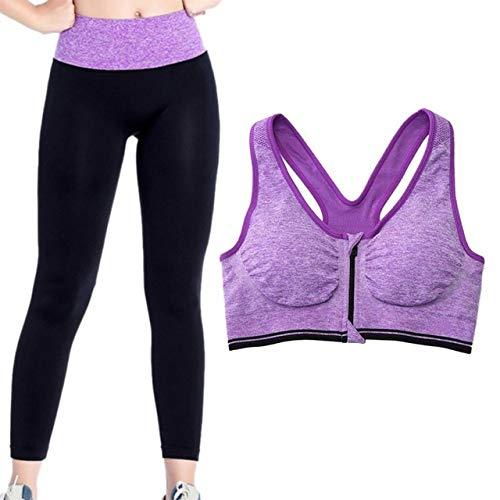 vhidfsjgdsfik Damen Fitness Zweiteiler Damen Set Sport Sport Top + Lange Trainingshose Hochwertiges Fitness Kostüm Lila S. (Sport Nuss Kostüm)
