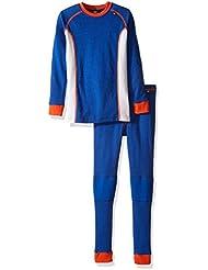 Helly Hansen Warm Set de los niños de la ropa interior térmica, Unisex, color Classic Blue, tamaño 38