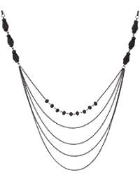Collier de perles brillantes pour femme, longueur 86-104cm