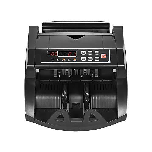 QWERTOUY Mehrwährungs-Banknotenzähler-Bargeldschein-automatischer Zählmaschine IR/DD ermitteln LCD-Anzeige für US-Dollar Euro