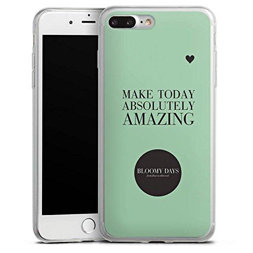 Apple iPhone X Slim Case Silikon Hülle Schutzhülle Blumen Liebe Herz Sprüche Silikon Slim Case transparent