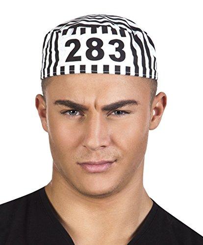 Halloweenia - Kostüm Accessoire Strafgefangener- Insassen Erwachsenen Kopfbedeckung, Mehrfarbig