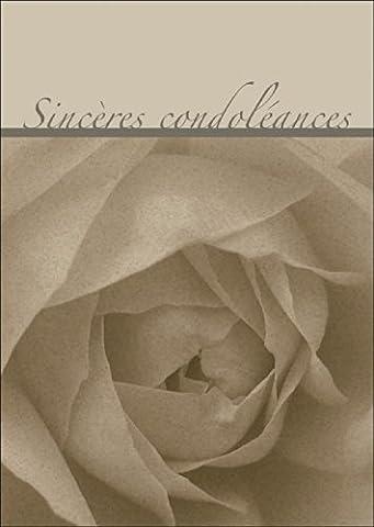 Sincères condoléances - carte de deuil, carte condoléances, carte de