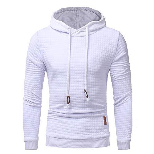 Boutique sale Neue Herren Pullover Langarm Hoodie Warme Farbe Kapuzen Sweatshirt Jacke Herren 2019 Classic Rhombic Herren Casual Kapuzenpullover Mantel