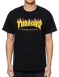 Thrasher Flame Black–Camiseta
