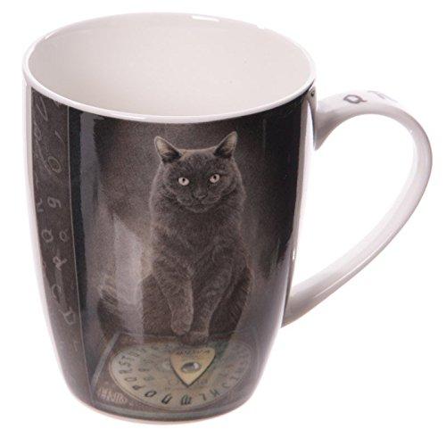 Puckator MULP31 Mug Design La Voie du Maître par Lisa Parker Porcelaine Blanc/Gris/Noir