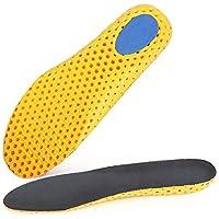 DarweirlueD Sport-Schuheinlagen, dick, atmungsaktiv, stoßdämpfend Gelb/Schwarz E preisvergleich bei billige-tabletten.eu