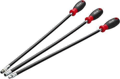 Vigor Flexibler Schraubendreher-Satz (extra lang: 500 mm, 3 Schraubendreher, inklusive Steckschlüssel und Bits) V5485