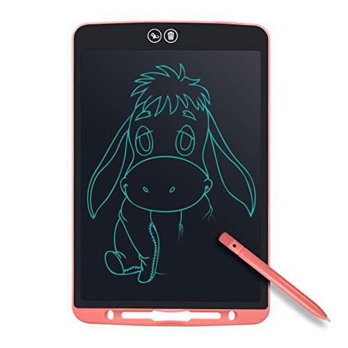 Tyhbelle Teilweise Löschbares Writing Tablet,12 Zoll Elektronisch LCD Schreibtafel mit Anti-Clearance Funktion und Dicke Linien,Stift papierlos für Schreiben Malen Notizen Super als Geschenke (Pink)