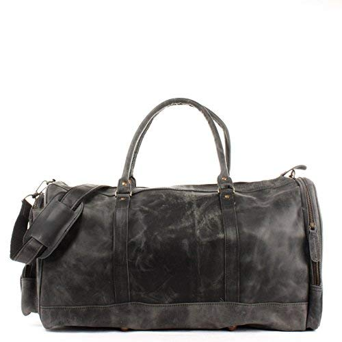 Leconi Weekender Travel Bag Shopper Women   Men Cow Leather Holdall ... dbf6caeaed