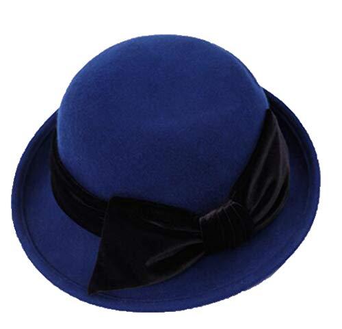 Wollfilz Roll-up Fedora Hüte für Frauen Vintage Fashion Elegant Trilby Panama Jazz Hut mit Bowknot -