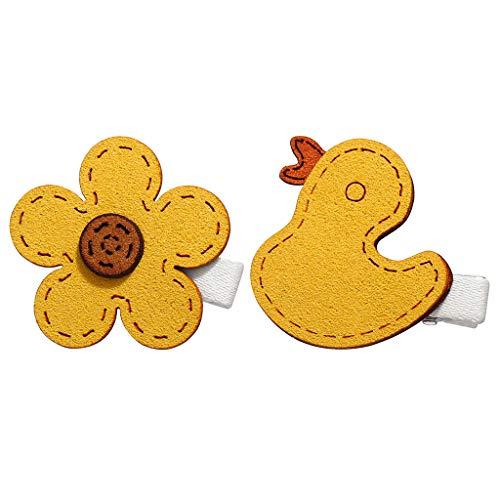 Darringls Clip Kleine Haarspange Clip Haarspange Haarschmuck Top Clip, Gelbe Yellow Duck Mode 2019 (C, Free)