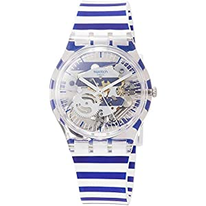 Swatch Mens Analogue Quartz Watch with Silicone Strap GE270