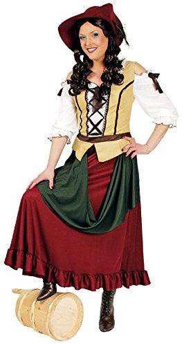 K31250424-44-46 Damen Travernen Mädchen Kellnerin Mittelalterkostüm Gr.44-46 (Kellnerin Kostüm Kinder)