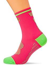 Sportlast Pro Calcetines de Compresión para Ciclismo, Coral / Verde, L