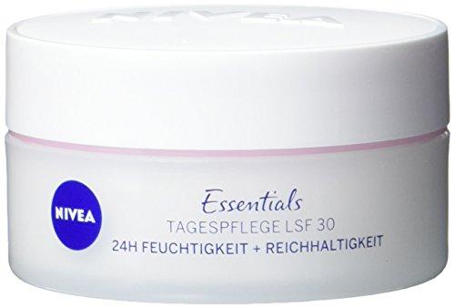 NIVEA Schützende Tagespflege für Trockene und Sensible Haut, Lichtschutzfaktor 30, 50 ml Tiegel