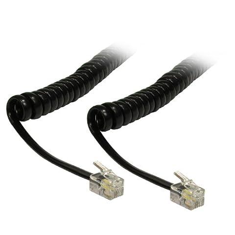 CDL Micro 5m Micro Cordon spiralé/90cm en spirale bouclés Câble combiné téléphone
