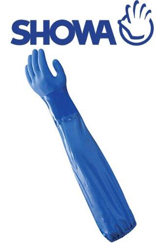Showa 690 - Guanti di protezione chimica per l'intero braccio, 60 cm