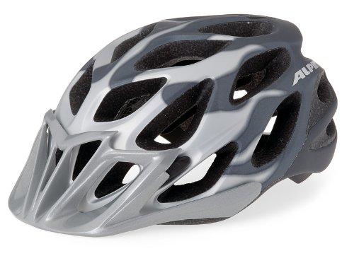 Fahrradhelm Alpina Mythos L.E. black white lines, white-silver-lines, Größe:52-57, Farbe:white-silver lines matt